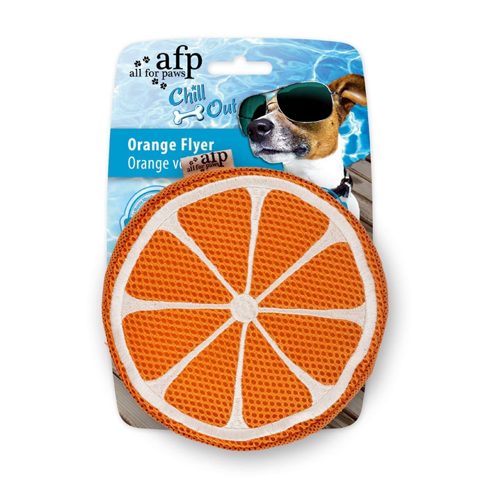 all-for-paws-thirst-crunch-orange-slice-dog-toy