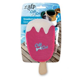 all-for-paws-thirst-crunch-strawberry-lolly-dog-toy