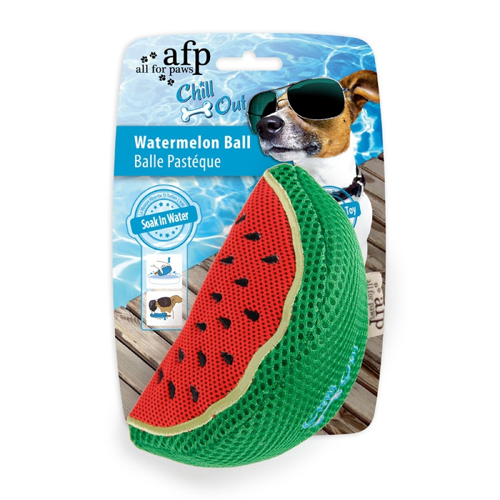 all-for-paws-thirst-crunch-watermelon-dog-toy