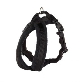 black-fleece-lined-dog-harness