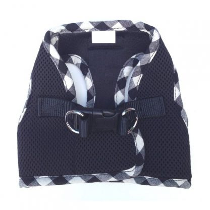 black-step-in-dog-harness-back-view