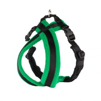 green-fleece-lined-dog-harness