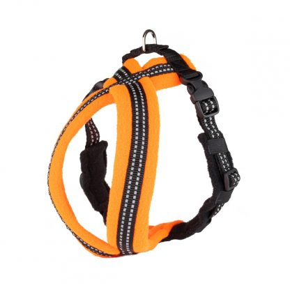 orange-reflective-fleece-lined-dog-harness