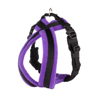 purple-fleece-lined-dog-harness