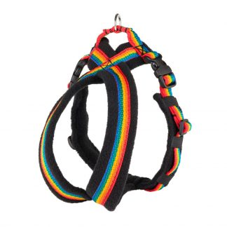 rainbow-fleece-lined-dog-harness