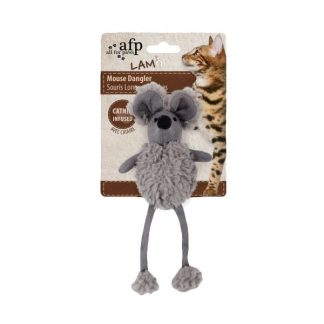 all-for-paws-mouse-dangler-cat-toy-grey